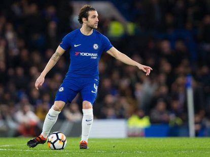 Cesc Fàbregas. en un partido con el Chelsea de la FA Cup.