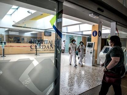 Acceso al del Hospital de la Cerdanya, el 28 de mayo de 2020.