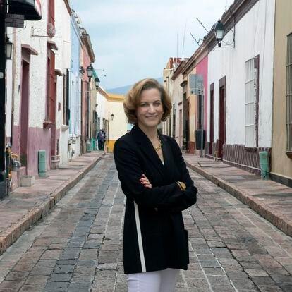 Anne Applebaum, el 3 de septiembre, en el HAY Festival de Querétaro.