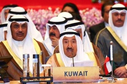 El emir de Kuwait, Sheikh Sabah al Ahmed al Jaber al Sabah, durante una reunión en Bangkok, en octubre de 2016.