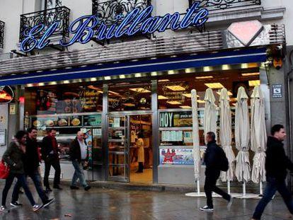 El Brillante de Atocha, famoso por sus bocadillos de calamares.