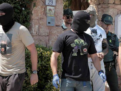 Uno de los detenidos en la operación 'ángeles del infierno'.