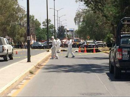 Un comando mata a seis agentes viales en Guanajuato