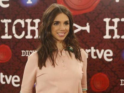 Elena Furiase en la presentación del programa 'Dicho y hecho' de TVE.