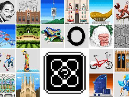 Una imagen del proyecto 'Pix-celona', de Appnormals Team.