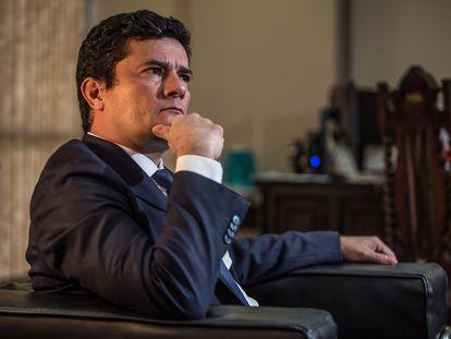 El exministro de Justicia de Brasil Sergio Moro, en marzo pasado.