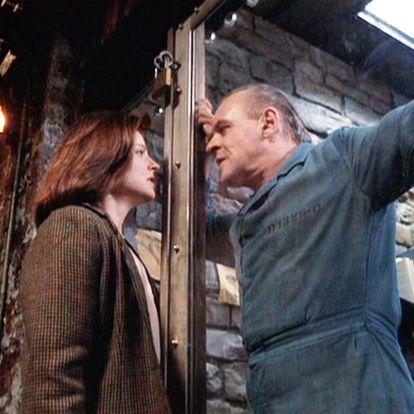 Jodie Foster y Anthony Hopkins, en una imagen de 'El silencio de los corderos'.