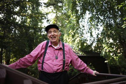Harold Bloom en su casa de New Haven, en Connecticut.