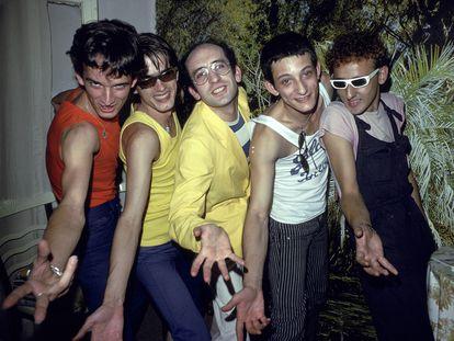 Primera sesión de fotos de Radio Futura, en 1979.