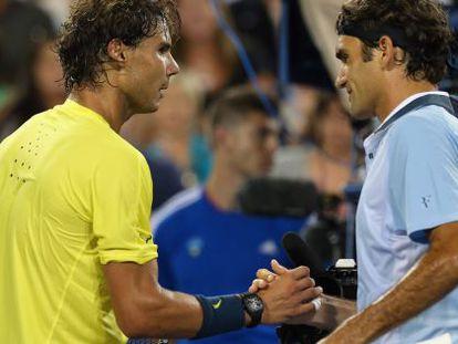Nadal y Federer se saludan tras los cuartos de Cincinnati
