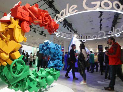 Expositor de Google en una conferencia tecnológica en San Francisco