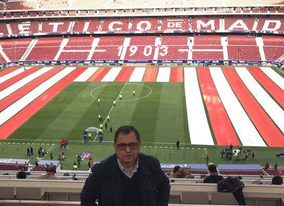 Chema Candela, en el estadio Wanda Metropolitano.