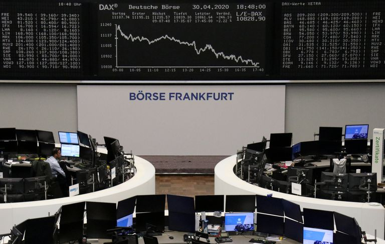 Mercado de valores de Fráncfort.