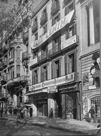 Local del POUM en Rambla dels Estudis de Barcelona.