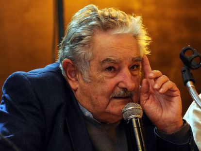 El presidente de Uruguay durante un acto público este miércoles en Montevideo.