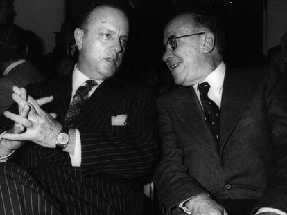 Manuel Fraga y Santiago Carrillo, en una imagen de 1977.