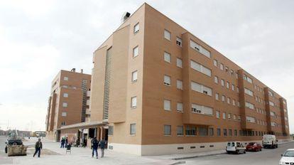 Vista de un edificio de viviendas.