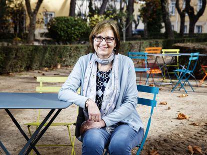 La directora del Centro Nacional de Epidemiología, Marina Pollán, en los jardines del Instituto de Salud Carlos III, en Madrid.