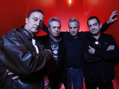 De derecha a izquierda, Dani Mezquita, Rafa Gutiérrez, David Summers y Javier Molina, este martes en Madrid.