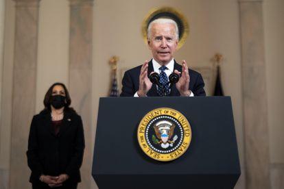 Joe Biden y Kamala Harris, tras su anuncio.