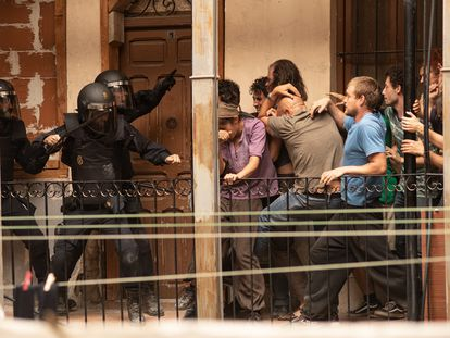 Imagen de la serie Antidisturbios de Movistar+.