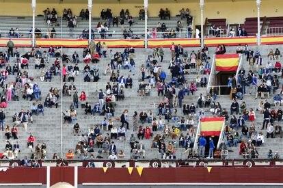 Los tendidos de Las Ventas, durante la corrida del 2 de mayo.