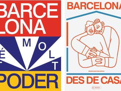 Dos campañas diseñadas por Koln Studio bajo la dirección de Nacho Padilla para el Ayuntamiento de Barcelona durante la crisis de la covid-19. |