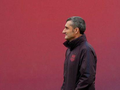 Valverde, durante el entrenamiento de este martes.