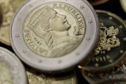 Imagen de una moneda de euro de Letonia. EFE/Archivo