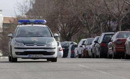 Un coche patrulla de la Guardia Civil, en una imagen de archivo.