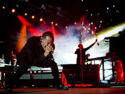 El cantante de Linkin Park Chester Bennington.