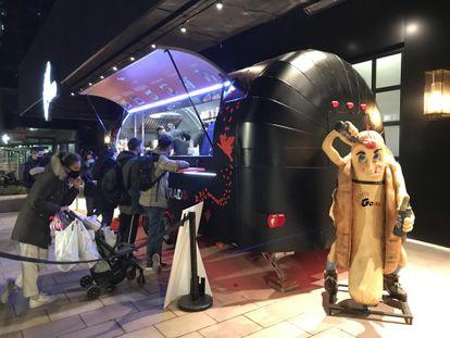 El 'food truck' de Dabid Muñoz instalado en Azca.