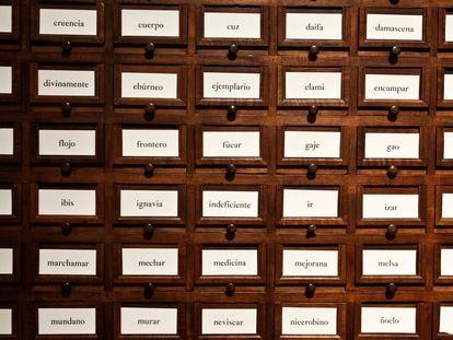 Fichero general de la Real Academia Española, con más de 10 millones de papeletas léxicas y lexicográficas.