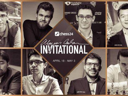 Cartel anunciador del Magnus Carlsen Invitational
