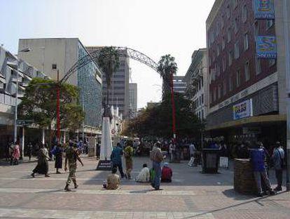 First Street, Harare, Zimbabwe.