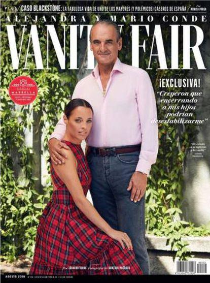 La portada de Vanity Fair en la que aparecen Mario Conde y su hija Alejandra.