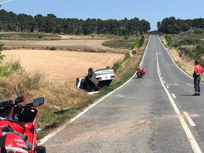 Accidente de tráfico en Peralta (Navarra).