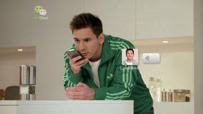 Leo Messi protagonizó un anuncio en español de la compañía china WeChat
