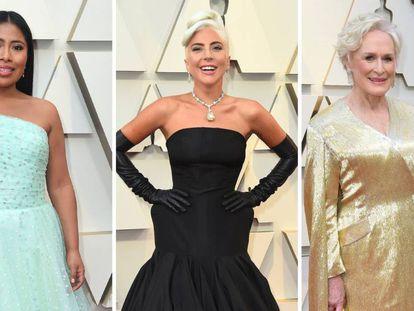 Yalitza Aparicio, Lady Gaga y Glenn Close, a su llegada a los Oscar 2019. En vídeo, las estrellas caminando por la alfombra roja.