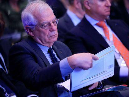 Josep Borrell en el Foro Iberoamérica, este viernes en Madrid.