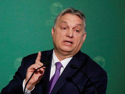 El primer ministro húngaro durante una rueda de prensa en Budapest, a comienzos de mes.