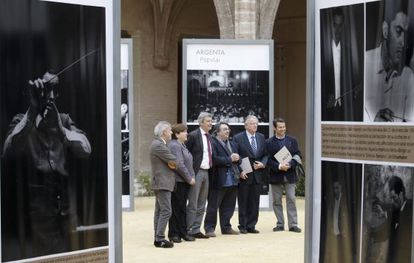 Responsables de la exposición y el concierto sobre Ataúlfo Argenta en el Centre del Carme..