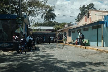 La entrada al hospital Alemán Nicaragüense, uno de los principales centros destinados por el Gobierno de Ortega.