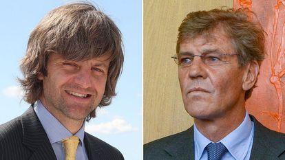 Ernesto de Hannover hijo (izquierda) y padre (derecha).