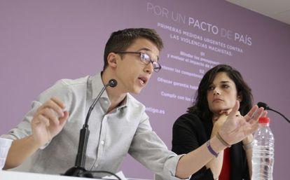 El director de campaña de Podemos, Íñigo Errejón, este lunes.