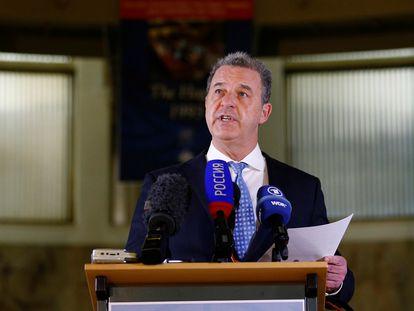 Serge Brammertz, fiscal jefe del disuelto Tribunal Penal Internacional para la antigua Yugoslavia, en La Haya en 2017.