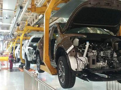 Línea de producción de la planta de JAC Motors en Hefei (China)