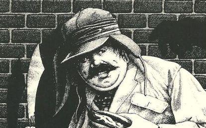 Ilustración de Paul Sahre, en la portada de 'La conjura de los necios'.