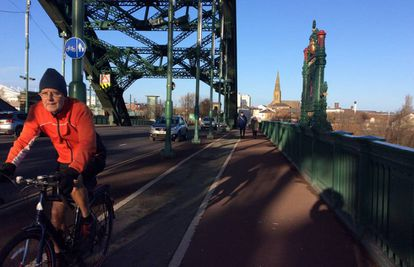 Uno de los puentes que cruza el río de Sunderland, el 8 de diciembre.