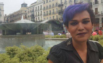 Victoria Gómez, mujer transexual agredida en Madrid.